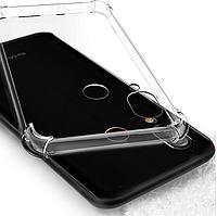 """Противоударный прозрачный силиконовый чехол PZOZ для Sharp Aquos S3 / 6"""" / Стекла /"""