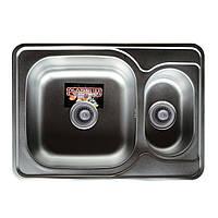 Врезная кухонная мойка Platinum 70*50 (мм) в покрытии Decor (структурная), с толщиной 0,8 (мм)