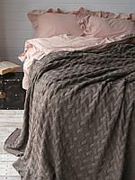 Плед- покрывало вязаное 170x240 BETIRES TRENTO MINK коричневое