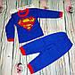 Дитяча піжама Супермен/Бетмен начіс, фото 2
