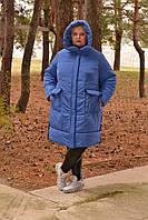 Женская зимняя куртка в больших размерах с плащевкой фольгой 10bbil364