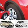 Ford Transit Custom / Tourneo Custom 2012-2017 защитные накладки на колесные арки