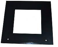 Стекло двери наружное для духовки L=497mm*470mm*4mm (закаленное,черное)