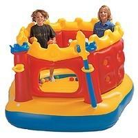 Надувной детский игровой батут Замок Intex 48258 (216 см х193 см х 114 см. )