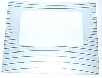 Стекло двери наружное для духовки L=490mm*395mm*4mm (закаленное,белое,пролетарий)