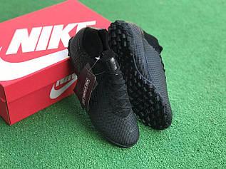Сороконожки Nike Mercurial Vapor 13 Academy TF черные