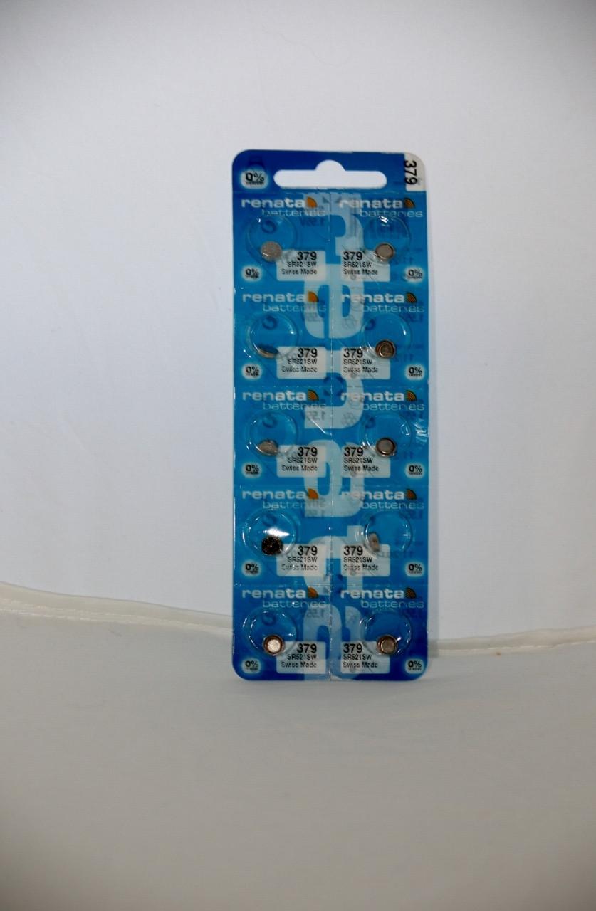 Часовая батарейка Renata SR521SW (379)