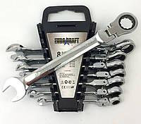 Набор рожково-накидных ключей с трещоткой Euro Craft 8 предметов (8-19)