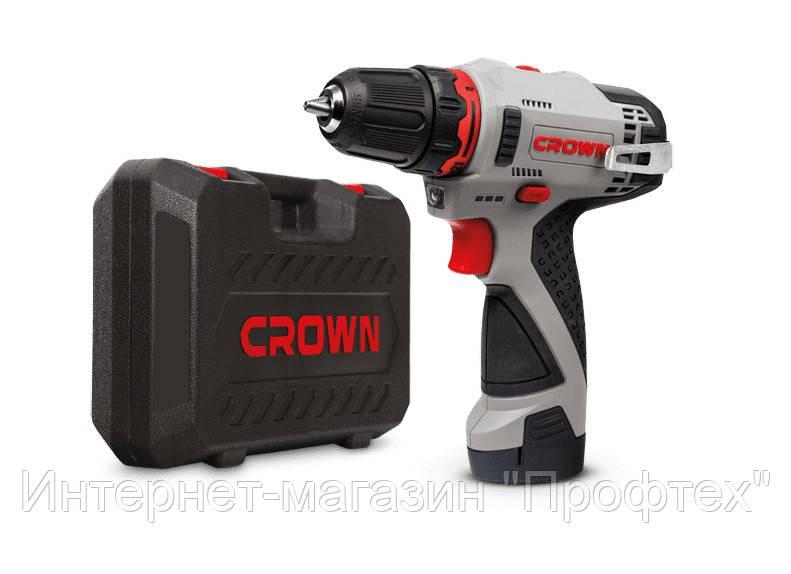 Акумуляторний шуруповерт CROWN CT21072HX-2 BMC