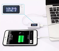 USB тестер зарядки KCX-017 міряє ємність батареї V, A лічильник ємності, фото 1