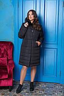 Длинная женская зимняя куртка 50-60рр.