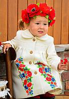 """Кашемировое пальто """"Радость цветочная """"для девочки Весна-Осень от 1 года до 4 лет, фото 1"""