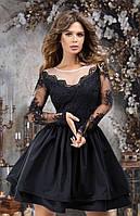 Женское вечернее платье №7302 (р.42-46) черный