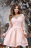 Женское вечернее платье №7302 (р.42-46) розовый