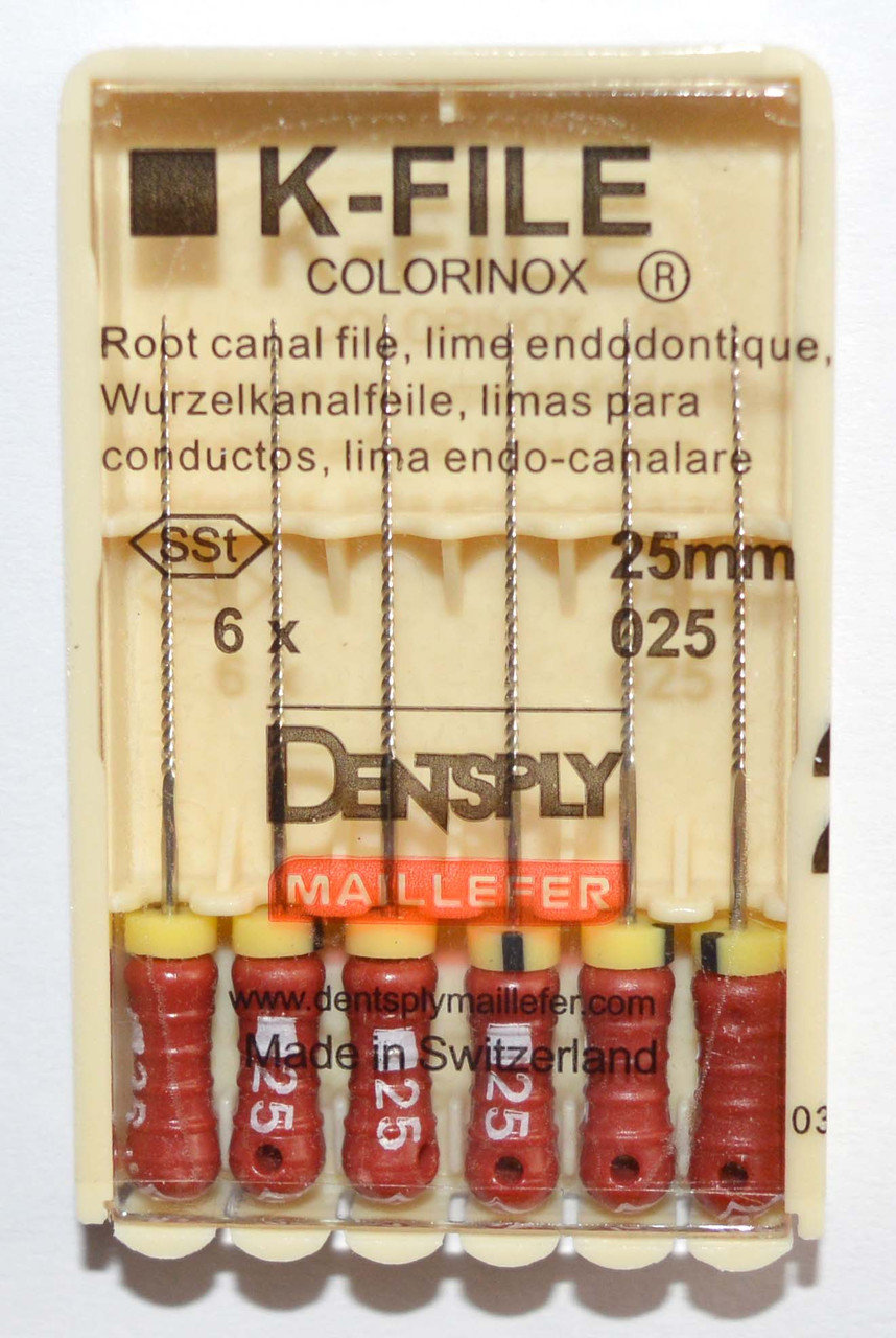 K-File 25мм, уп.6шт, №025, Dentsply Maillefer