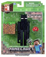 Фигурка Эндермен с блоком Майнкрафт Minecraft Core Enderman Figure Pack оригинал Jazwares