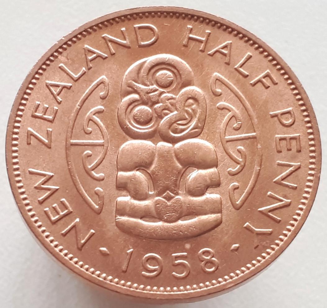 Новая Зеландия ½ пенни 1958