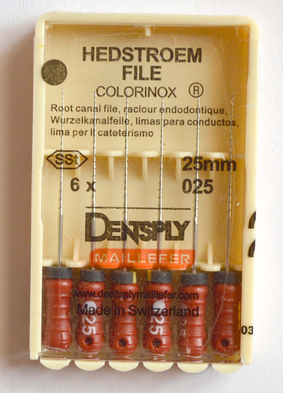 H-File 25мм, уп.6шт, №025, Dentsply Maillefer