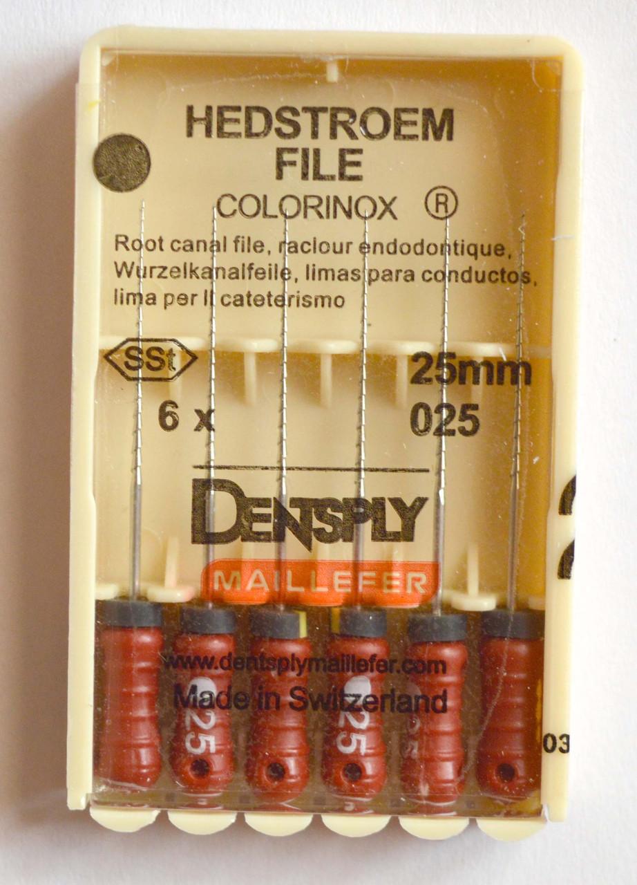 H-File 25мм, уп.6шт, №025, Dentsply Maillefer