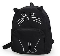 Рюкзак черный кот молодежный неповторимый качественный 368