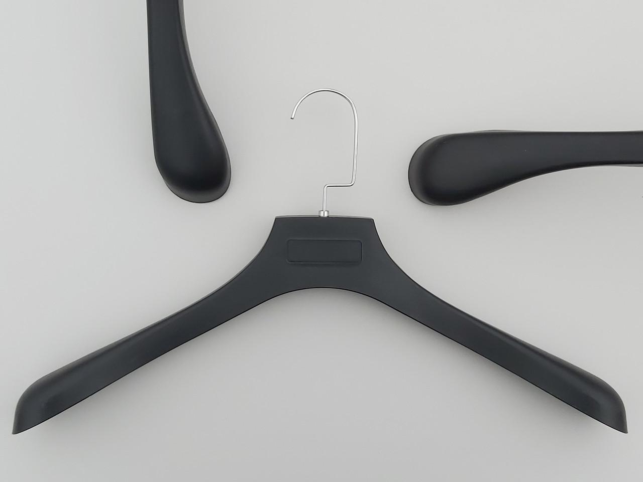 Плечики вешалки тремпеля  ПД45 черного цвета под дерево, длина 45,5 см