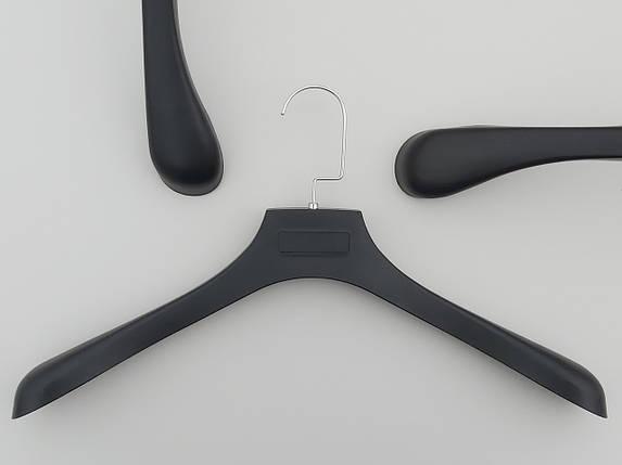 Плечики вешалки тремпеля  ПД45 черного цвета под дерево, длина 45,5 см, фото 2