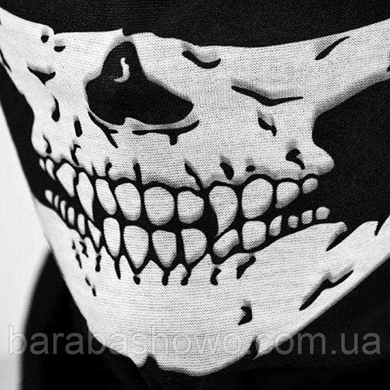 Бафф маска с черепом