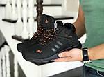 Мужские кроссовки Adidas Climaproof (черно-оранжевые) ЗИМА, фото 2