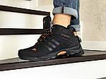 Мужские кроссовки Adidas Climaproof (черно-оранжевые) ЗИМА, фото 4