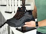 Мужские кроссовки Adidas Climaproof (серо-оранжевые) ЗИМА, фото 3