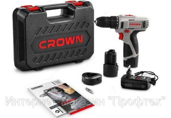 Аккумуляторный шуруповерт CROWN CT21053LH BMC