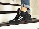 Мужские кроссовки Adidas Climaproof (черно-белые) ЗИМА, фото 2