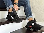 Мужские кроссовки Adidas Climaproof (черно-белые) ЗИМА, фото 4
