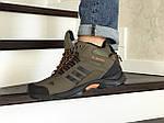 Мужские кроссовки Adidas Climaproof (темно-зеленые) ЗИМА, фото 2