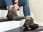 Мужские кроссовки Adidas Climaproof (темно-зеленые) ЗИМА, фото 4