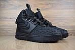 Мужские зимние кроссовки Nike Lunar Force 1 с мехом (черные), фото 2