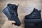 Мужские зимние кроссовки Nike Lunar Force 1 с мехом (черные), фото 9