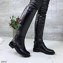 Сапоги кожаные высокие, фото 3