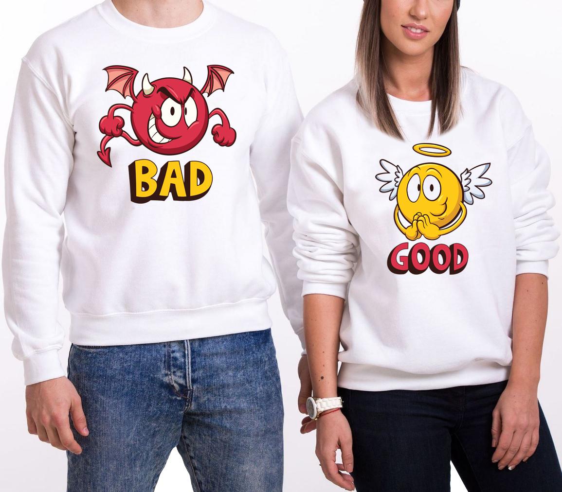 """Парные Свитшоты """"Bad/Good"""" (30-100% предоплата)"""