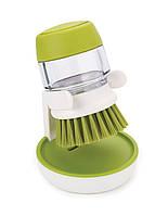 Щетка для мытья посуды с дозатором JOSEPB JOSEPB Palm Crub Зеленая
