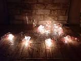 Светодиодная LED гирлянда фламинго белый теплый 12шт 5м, фото 2
