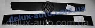 Зимняя верхняя накладка на решетку глянец на прямую морду на Volkswagen T4 Caravelle/Multivan