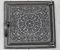 """Топочная дверца для печи """"Т-2"""" 270х290 мм, чугунная печная дверка"""