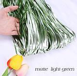 Дождик на фотозону зеленый матовый - (высота 2,45м, ширина 92см), двухсторонний, фото 5