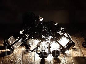 Светодиодная LED гирлянда фигурки белый теплый 12шт 5м