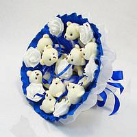 Букет из игрушек Мишки 9 синий 5339IT, фото 1