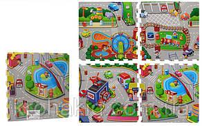 Детский EVA коврик-пазл для игр на полу плотный с рисунком Панды (размер см: 60*60, в упаковке 4 плиты), фото 2