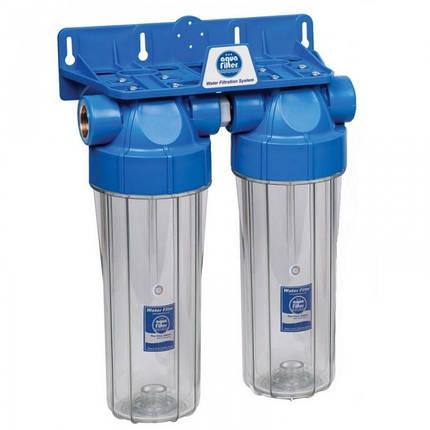 Двухступенчатый фильтр Aquafilter FHPRCL12-B-TWIN, фото 2