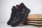 Мужские зимние кроссовки Adidas Jogger с мехом (черные с оранжевым), фото 6