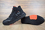 Мужские зимние кроссовки Adidas Jogger с мехом (черные с оранжевым), фото 7
